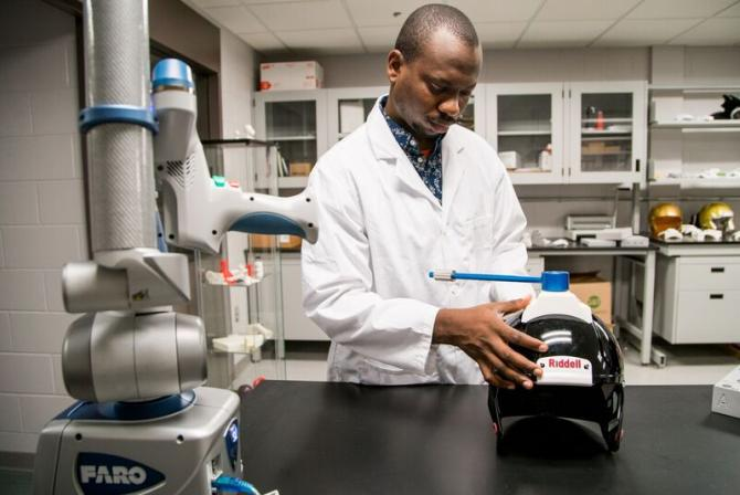 A researcher at work in the laboratory