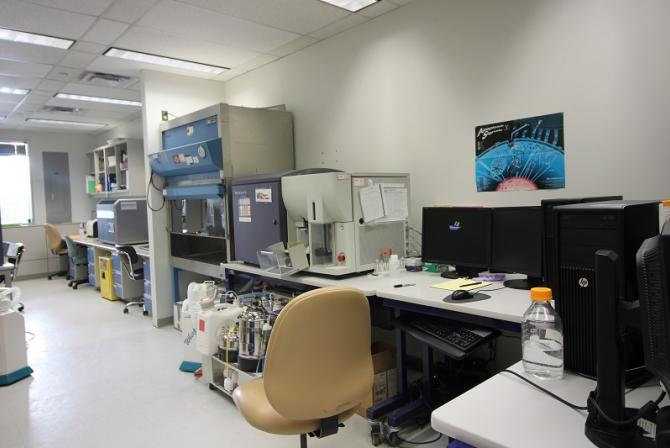 Interior of the lab