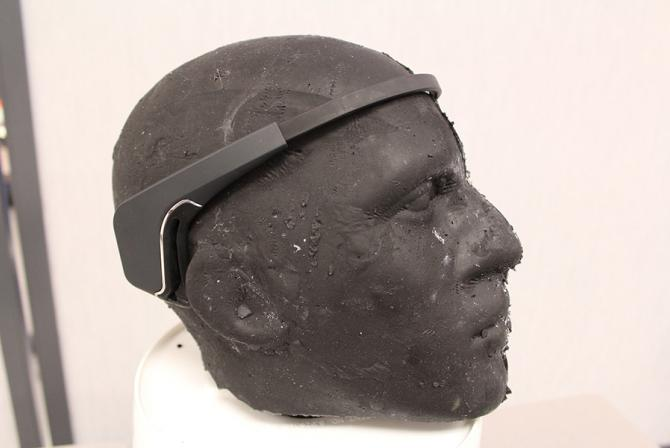 Headband placed on displayed mannequin head