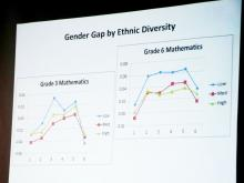 Graphic display of Gender Gap by Ethnic Diversity for Grade 3 and Grade 6 Mathematics