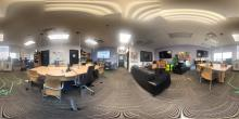 Panoramic view of the Maker Lab