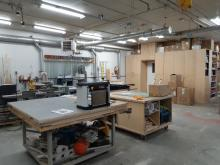Equipment in a woodworking shop