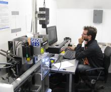 Researcher operates the research infrastructure