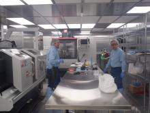 Staff at work in the cleanroom