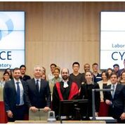 Group photo in at the Cyberjustice Laboratory